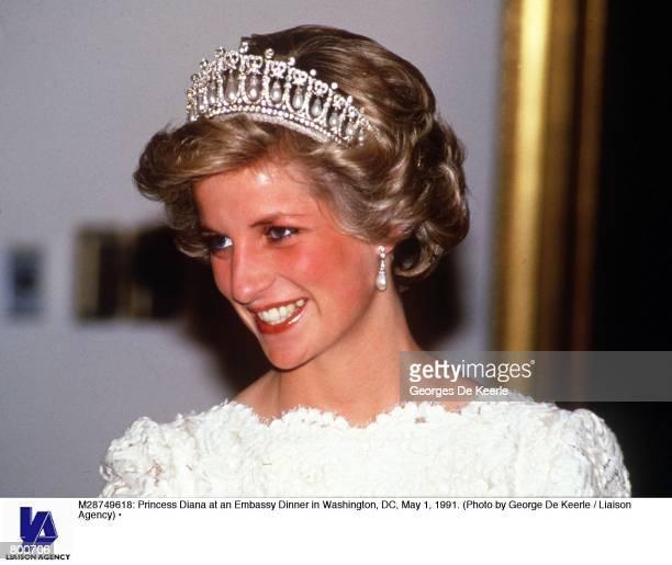 Princess Diana at an Embassy Dinner in Washington DC May 1 1991