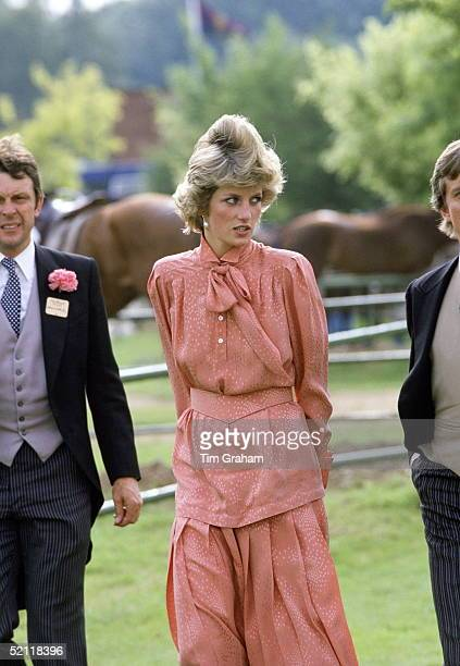 Princess Diana At Guards Polo Club After Spending The Day At Royal Ascot