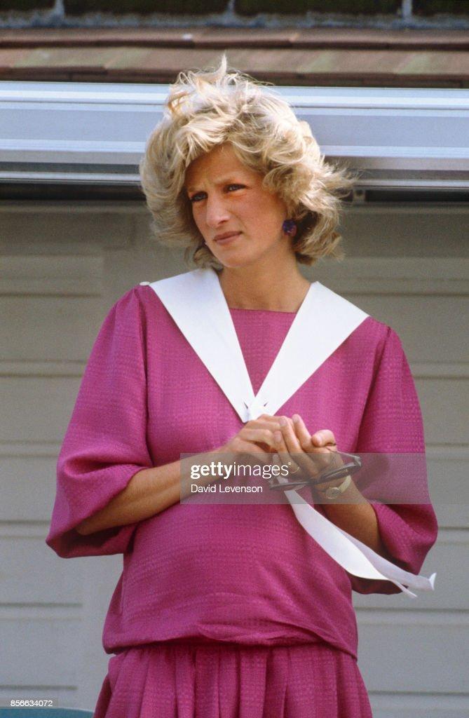 Princess Diana at Guards Polo Club... : News Photo