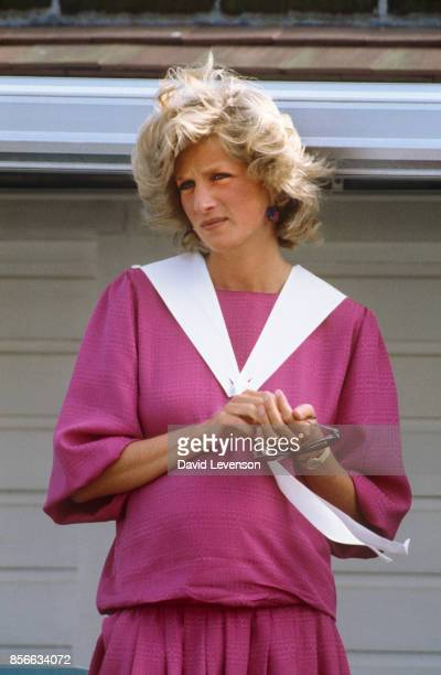 Princess Diana at Guards Polo Club In Windsor on June 7 1984
