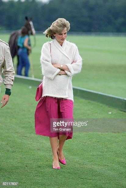 Princess Diana At Guards Polo Club Windsor
