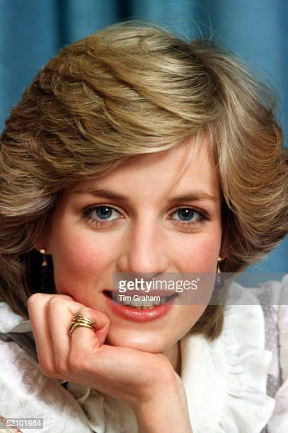 Princess Diana At Her Home In Kensington Palace