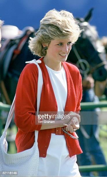 Princess Diana At Polo At Windsor