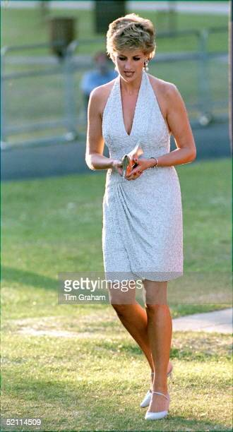 Princess Diana At Serpentine Gallery In Hyde Park, London For Dinner Hosted By Vanity Fair Magazine.
