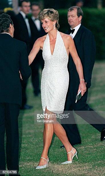 Princess Diana At Serpentine Gallery In Hyde Park London