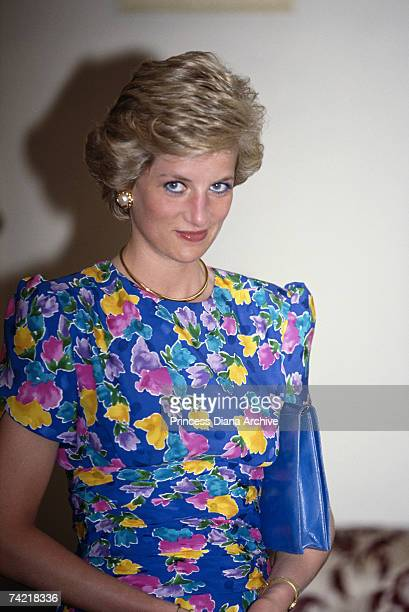 Princess Diana at State House Lagos during a visit to Nigeria March 1990
