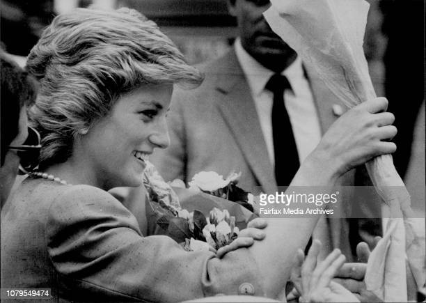 Princess Diana at the Adelaide Festival Centre January 30 1988