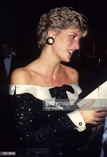 Princess Diana at the English National Opera London Coliseum November 1991 at the Various in Various United Kingdom