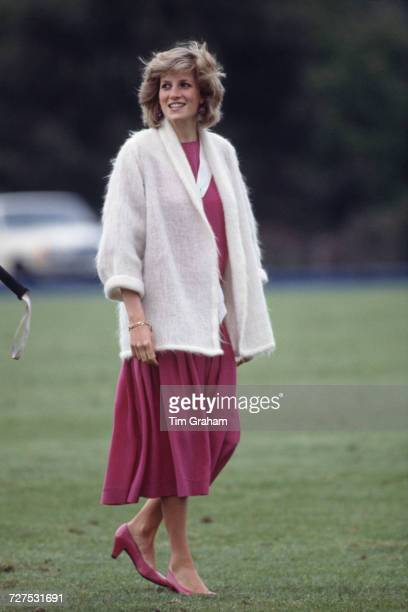 Princess Diana at the Guards Polo Club in Windsor Berkshire