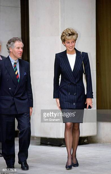 Princess Diana At The Home Office As Patron Of The Charity Turning Point