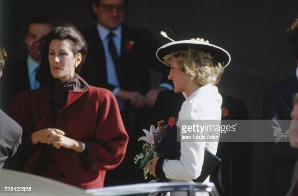 Princess Diana at the National Gallery of Art in Washington DC during an official trip to the United States 10th November 1985