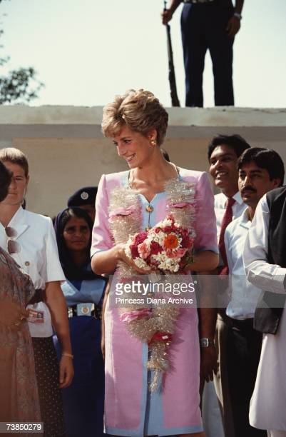 Princess Diana at the Norpoor Family Welfare Centre Islamabad September 1991