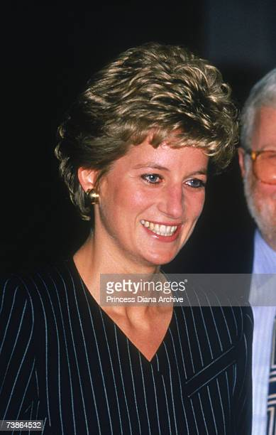 Princess Diana at the Regent Hotel in London to attend a conference discussing 'Care In The Community' 17th November 1993