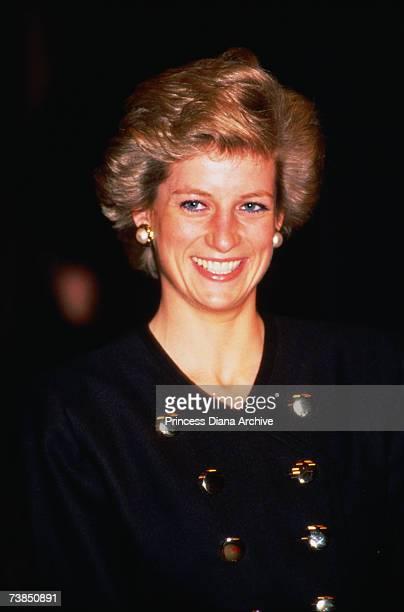 Princess Diana at the Royal Academy of Dramatic Arts, London, November 1989.