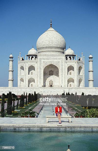 Princess Diana at the Taj Mahal during her visit to Agra India 11th February 1992