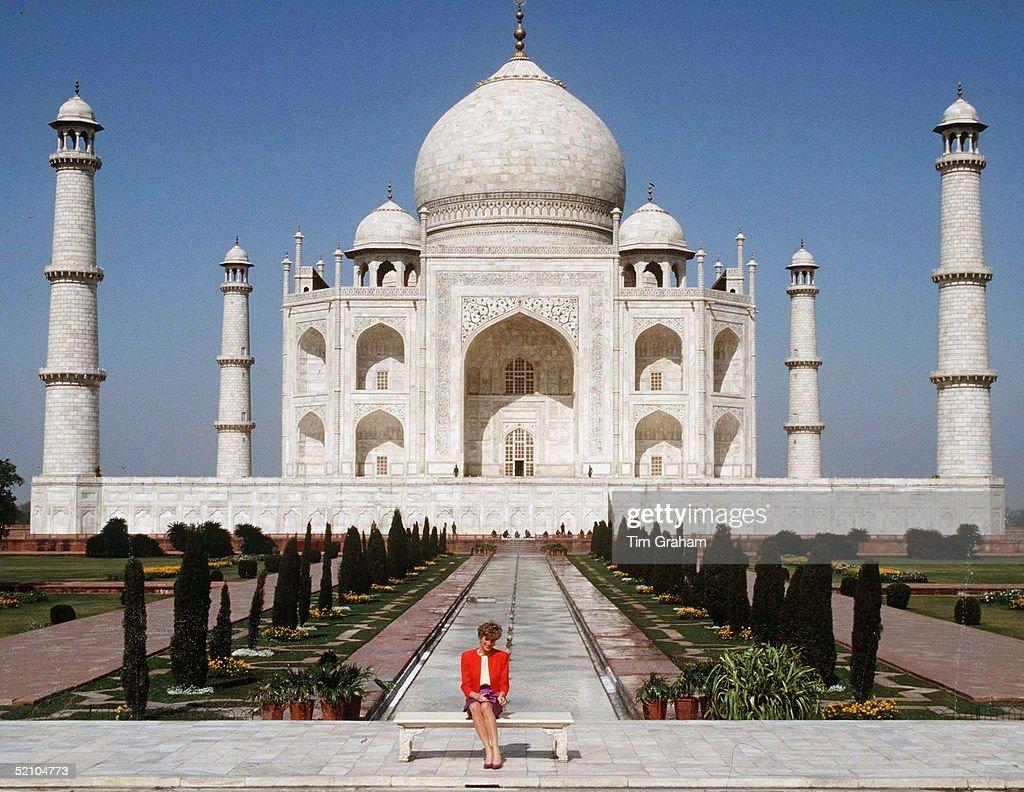 Princess Diana Taj Mahal India : News Photo