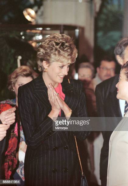 Princess Diana At The Town Hall In Lille On The Last Day Of Her Visit To France picture taken 15th November 1992