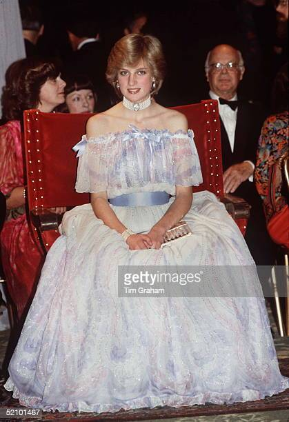 Princess Diana At The Victoria Albert Museum For The 'splendours Of The Gonzagas' Exhibition