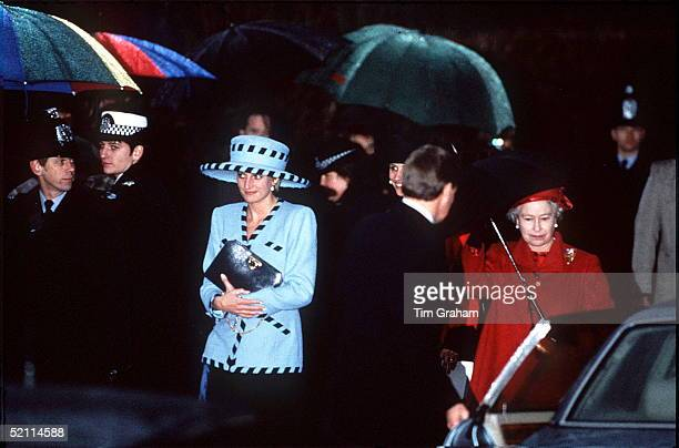 Princess Diana At The Wedding Of Her Friend Harry Herbert The Queen A Friend Of The Groom's Father Was Among The Guests