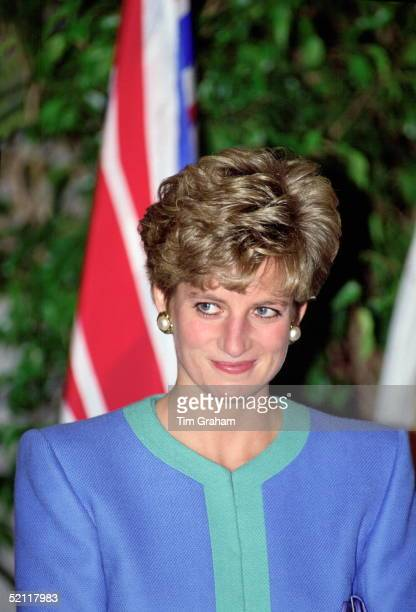 Princess Diana At The World Exchange Plaza During Her Official Tour Of Canada