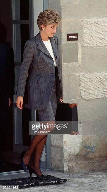 Princess Diana Attending A Meeting Of The Red Cross Charity In Geneva