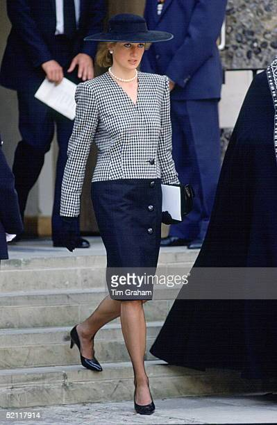 Princess Diana Attending A Memorial Service For The Victims Of The 'marchioness' Disaster