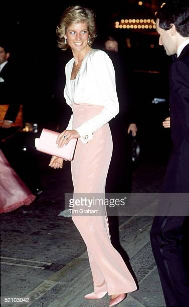 Princess Diana Attending A Performance Of The Ballet 'swan Lake' At The Coliseum In London Raising Funds For The Royal Society For The Protection Of...