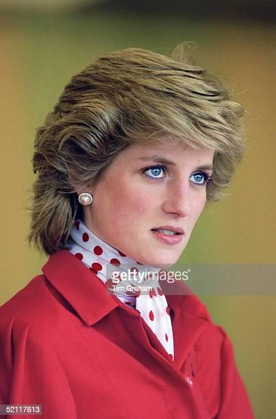 Princess Diana Attending An Agricultural Fair