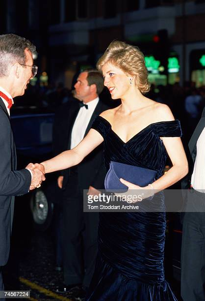 Princess Diana attending the premiere of Oliver Stone's film 'Wall Street' 27th April 1988