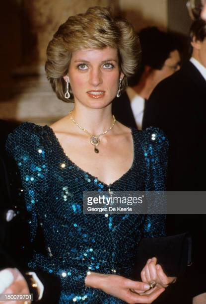 Princess Diana attends a gala at the Vienna Burgh Theatre during a visit to Austria