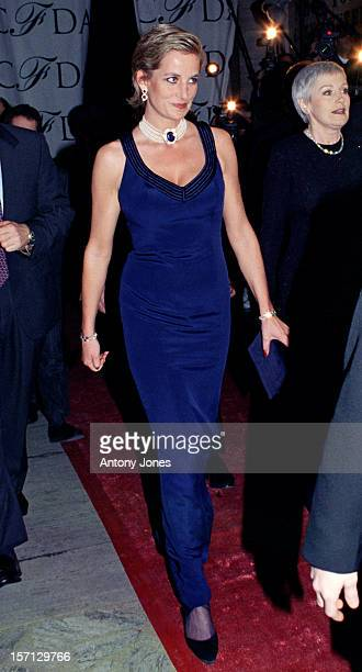 Princess Diana Attends The Council Of Fashion Designers Of America Gala Ball In New York
