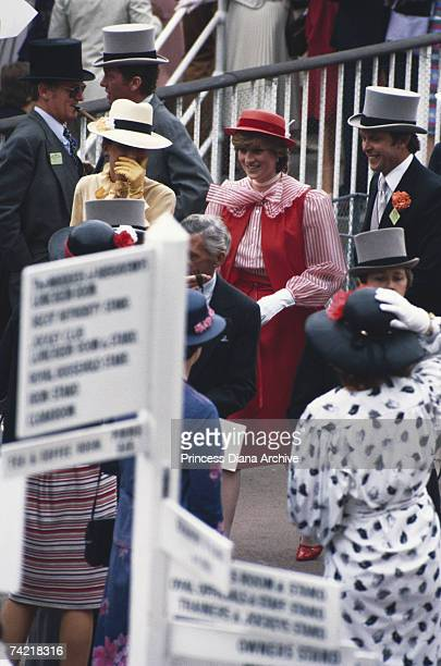 Princess Diana attends the Royal Ascot race meeting for the first time June 1981