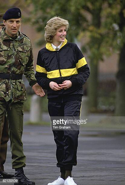 Princess Diana, Colonel-in-chief Of The Royal Hampshire Regiment, Visiting The Regiment Whilst They Were Serving In West Berlin, Germany.