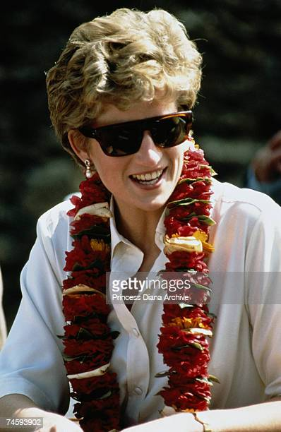 Princess Diana during a field visit to Red Cross projects in the remote mountain villages of Nepal 3rd March 1993