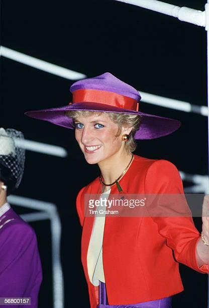 Princess Diana during a tour of Hong Kong