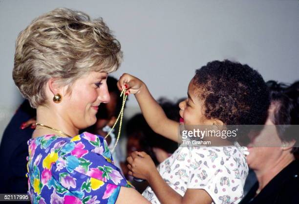 Princess Diana During A Visit To A Hostel For Abandoned Children In Sao Paulo Many Of Them Hiv Positive Or Suffering From Aids