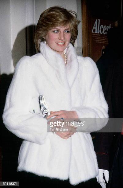 Princess Diana During A Visit To The Royal Opera House