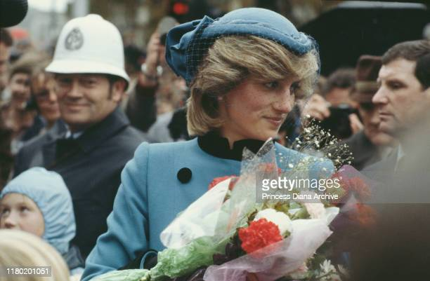 Princess Diana during a walkabout in Dunedin, New Zealand, 25th April 1983.