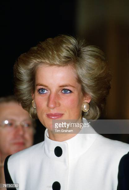 Princess Diana during an official visit to Paris France