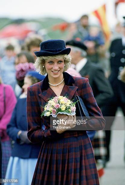 Princess Diana During An Official Visit To The Western Isles Of Scotland