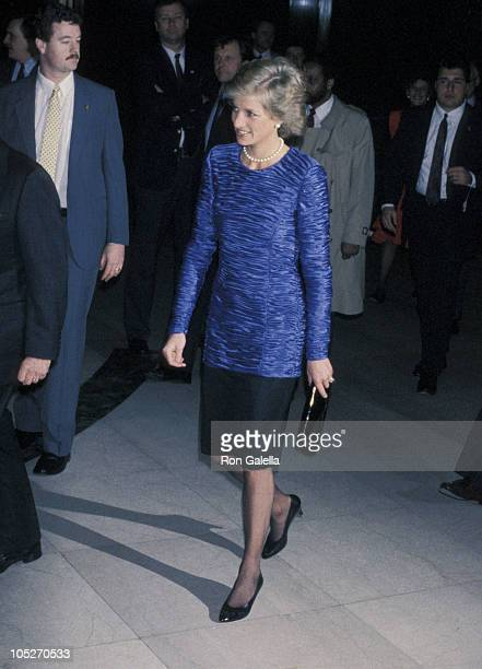 Princess Diana during Dawson International Cocktail Party February 1 1989 at The Equitable Center in New York City New York United States