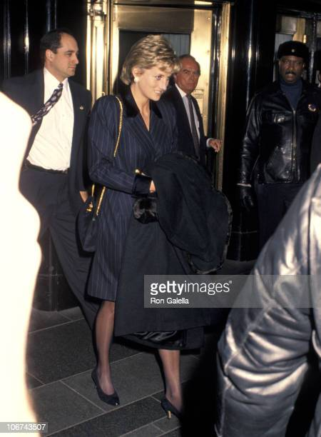 Princess Diana during Princess Diana Leaving The Carlyle Hotel Headed Back To London at The Carlyle Hotel in New York City New York United States