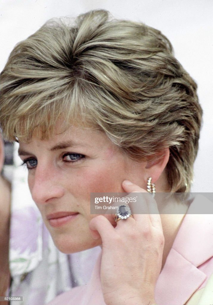 Princess Diana Engagement Ring, Wedding Ring, Watch, Gold Earrings