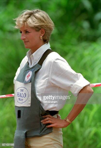 Princess Diana In An Area Cleared Of Landmines By The Halo Trust Huambo Angola