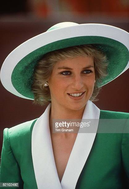 Princess Diana In Australia Circa February 1988 She is wearing a hat by Philip Somerville