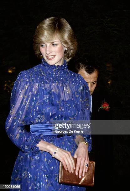 Princess Diana in Cardiff after delivering a speech in Welsh