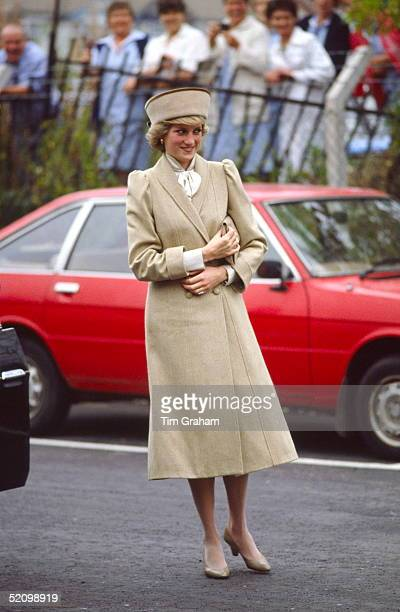 Princess Diana In Coventry For A Visit To The Charity Remploy