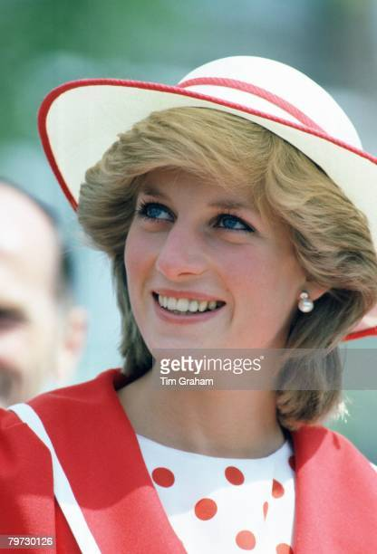 Princess Diana in Edmonton during an official visit of Canada
