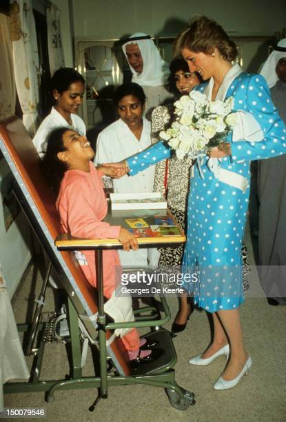 Princess Diana in Kuwait during the Tour of The Gulf States