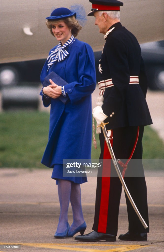 Princess Diana in Leicester... : News Photo
